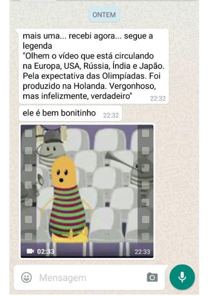 Mensagem espalhado pelo WhatsApp afirma que essa animação teria sido feita pela Holanda para satirizar o Rio de Janeiro!
