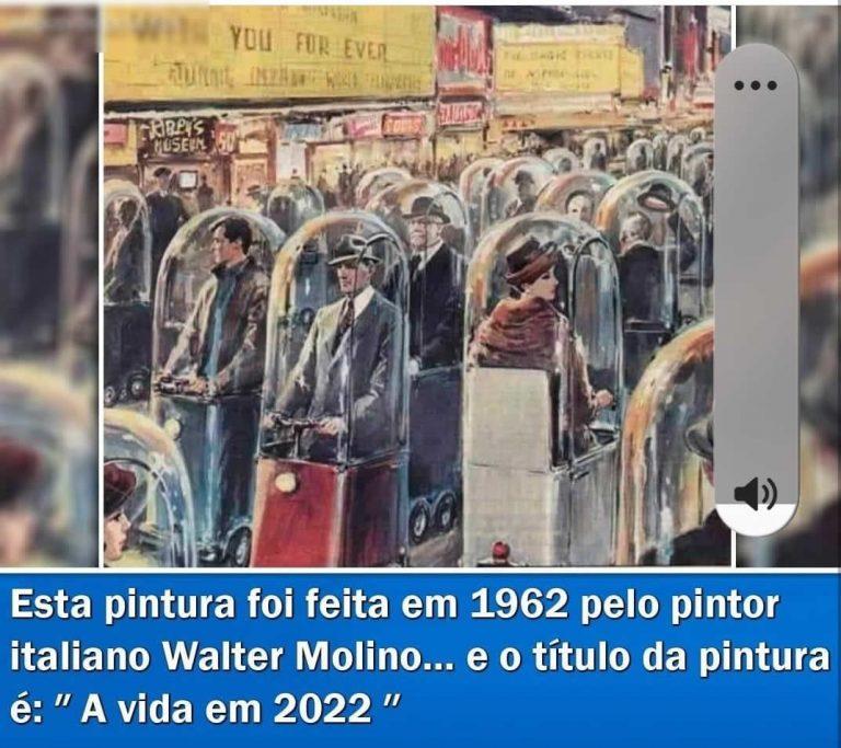 É verdade que um pintor italiano fez um quadro prevendo como seria a vida em 2022?