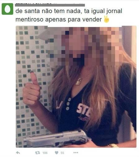 Fotos tentam desmoralizar a moça!