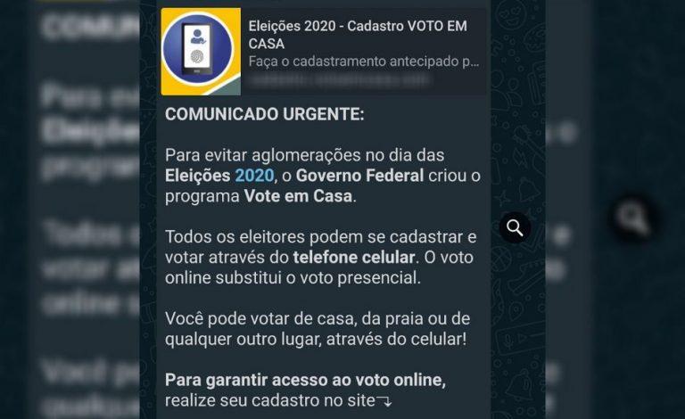 """""""Vote em Casa""""? É falso que o Governo Federal permitiu a votação através do celular!"""