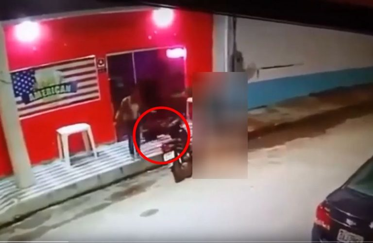 Vulto fantasmagórico apareceu na filmagem de um homicídio em Manaus?