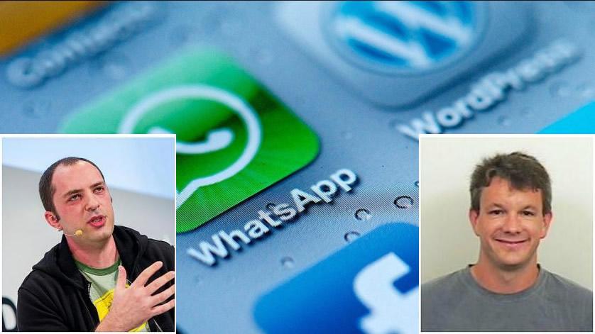 Cofundadores do WhatsApp tentaram trabalhar no Facebook mas foram rejeitados! Será? (fotos: Divulgação)
