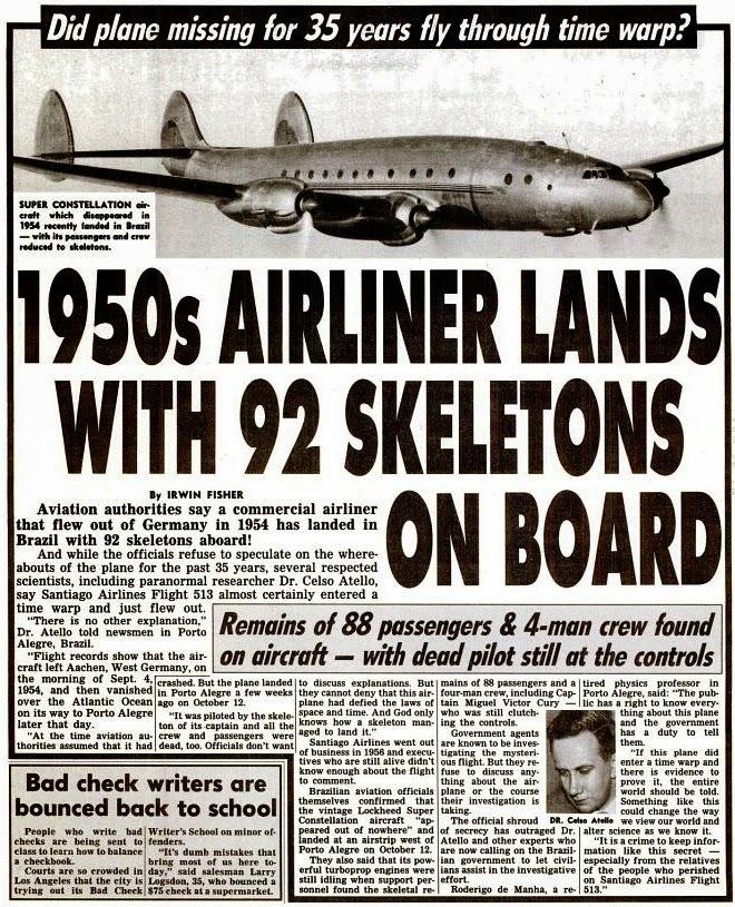 Santiago 513: O voo cujo avião só pousou 35 anos após a decolagem!