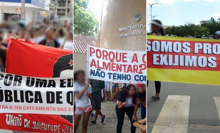 Faixas de protesto contendo erros ortográficos são verdadeiras ou falsas?