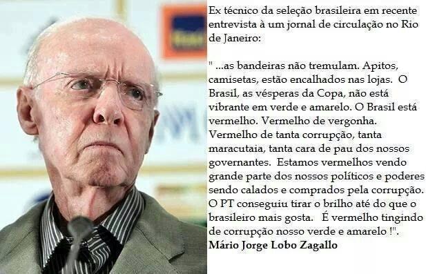 Zagallo teria criticado a situação atual do Brasil em jornal carioca! Verdadeiro ou falso? (foto: Reprodução/facebook)